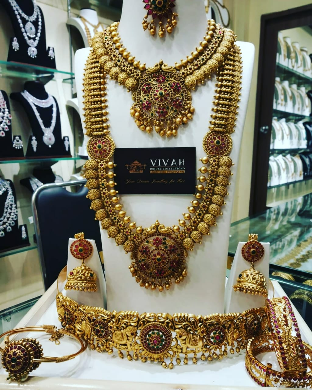 wedding bridal jewellery for rent in T Nagar