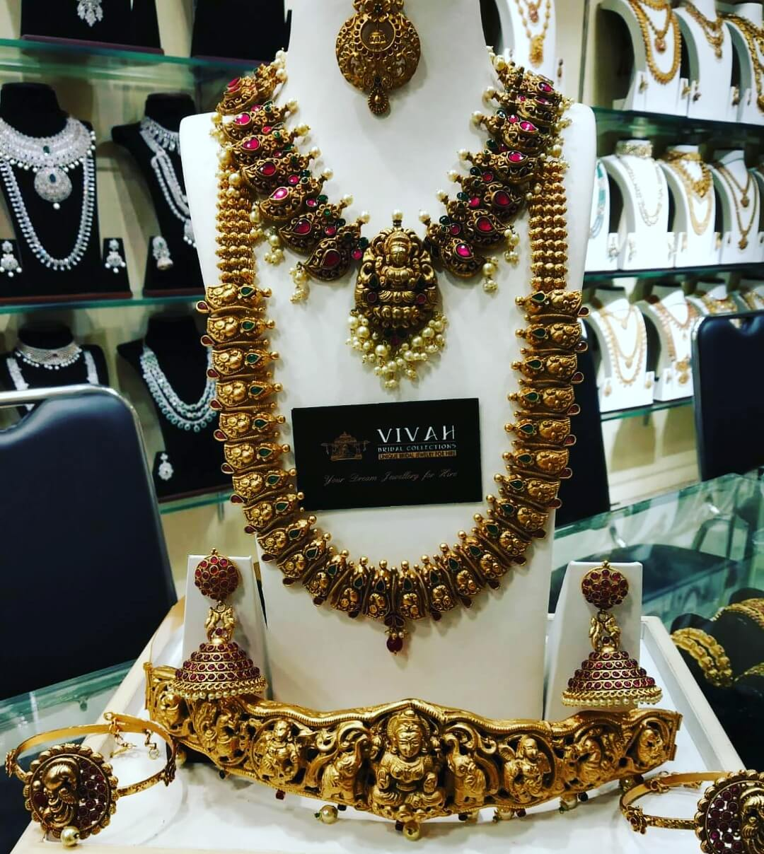 matt bridal jewellery Collections for rent in T nagar